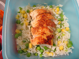 Chicken and Vegetable Rice Packed Lunch