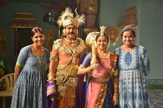 Keerthy Suresh with Maohan Babu in Mahanati Working Stills 1