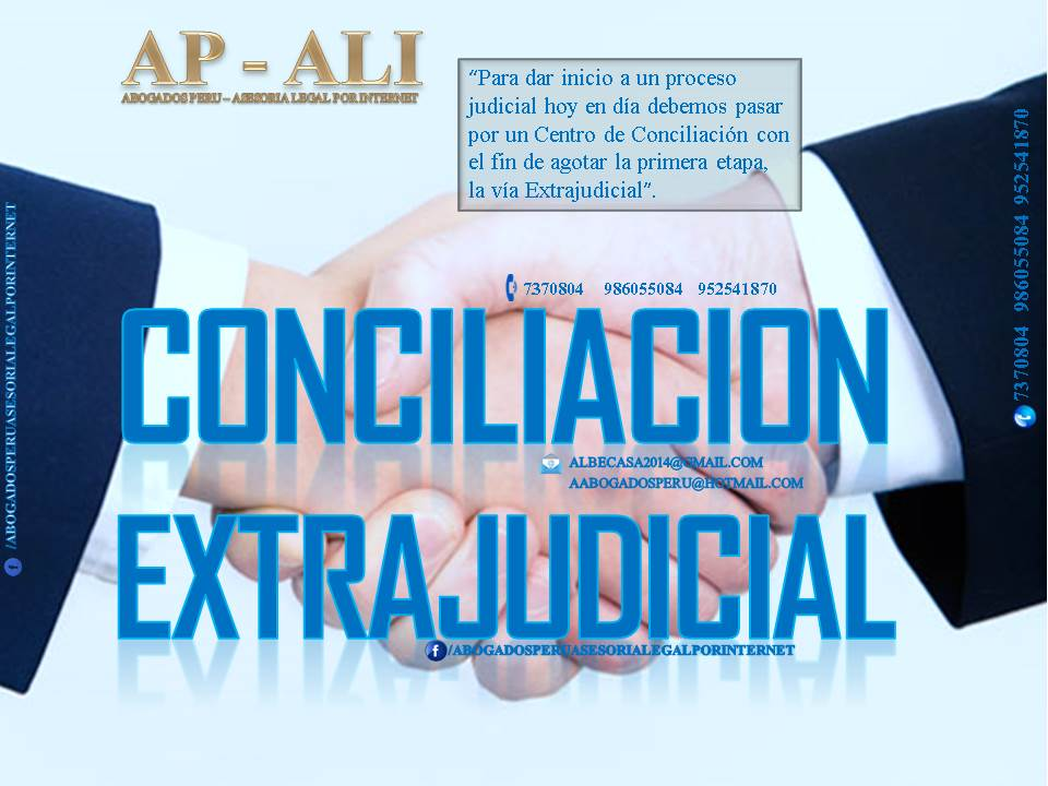 Abogados peru asesoria legal por internet for Via extrajudicial