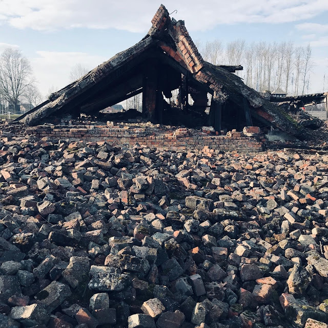 The remains of a crematorium at Birkenau : My Visit To Auschwitz (and why you should visit too)