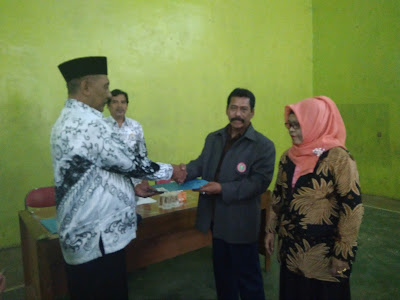 Ketua PGRI Lemahabang Terpilih Baru Sertijab