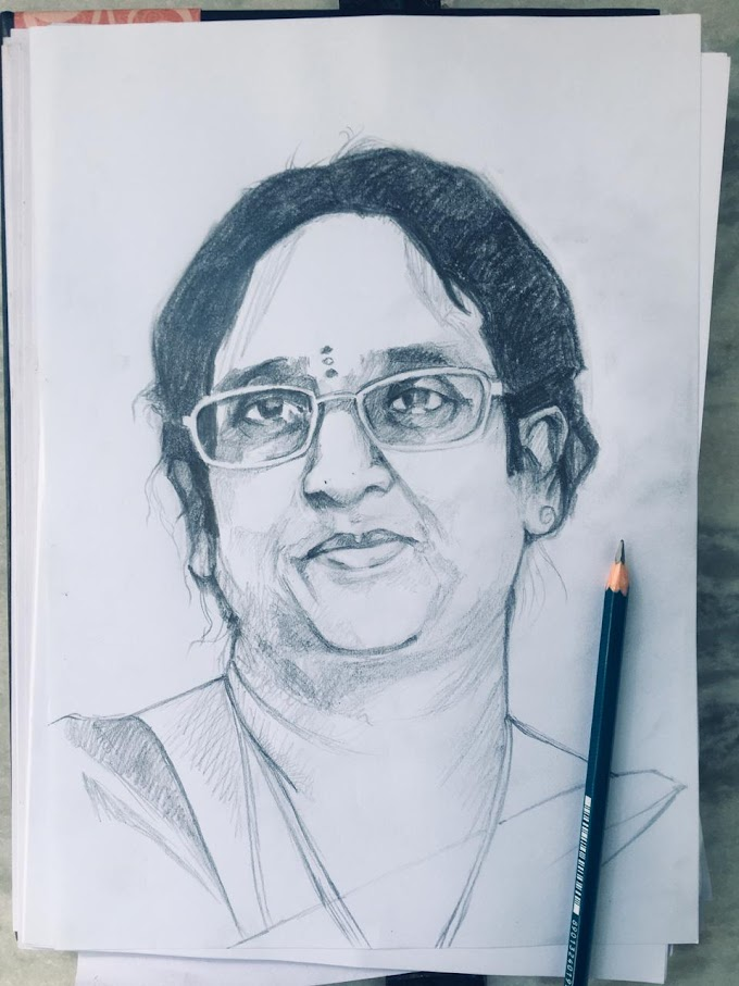Portrait of Sandhya ( my colleague) in 40 minutes