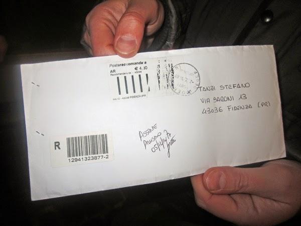 Fidenza l 39 apertura della busta conferma il nome tanzi c for Plico raccomandato senza busta canone rai