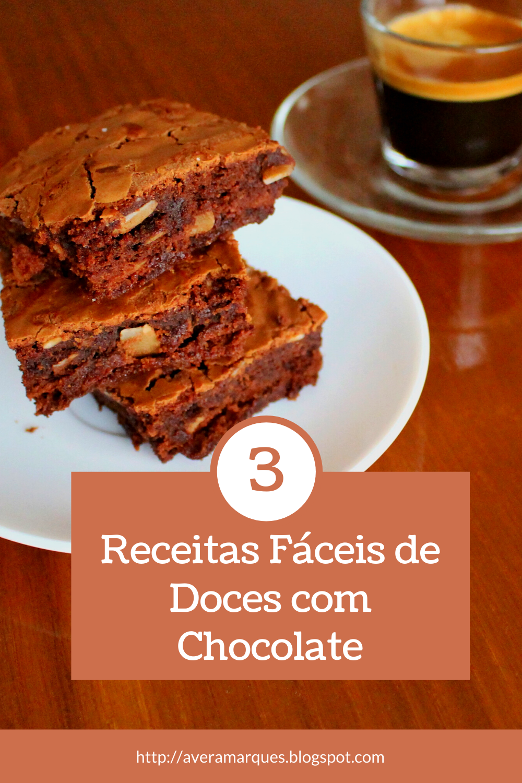 Dicas de Receitas Fáceis com Chocolate