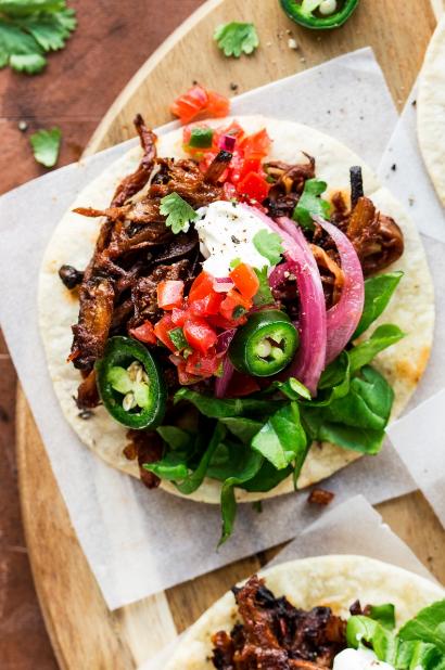Vegan Pulled Mushroom Tacos