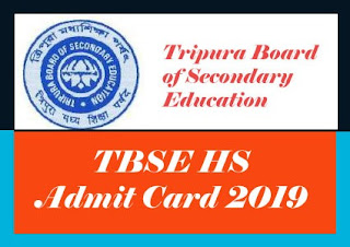 Tripura Board HS Admit card 2019, Tripura Board 12th Admit card 2019