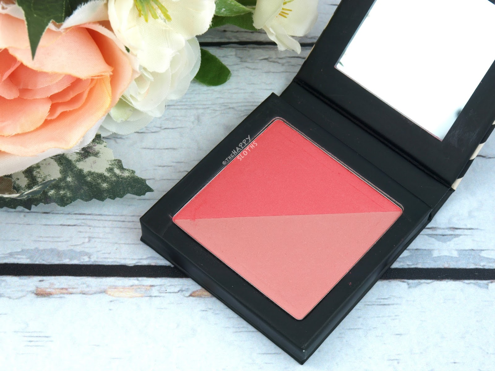 "Beautycounter Color Sweep Blush Duo in ""Flamingo/Apricot"": Swatches & Review"