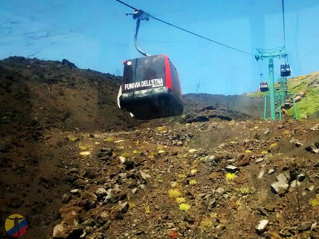 Teleférico volcán Etna