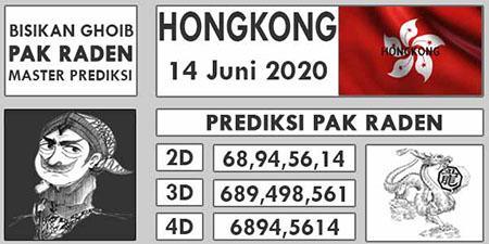 Prediksi HK Malam Ini 14 Juni 2020 - Pak Raden