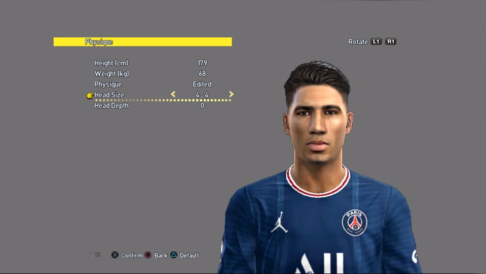 Achraf Hakimi Face For PES 2013