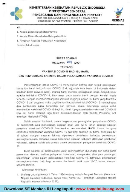surat edaran menkes ri vaksinasi covid-19 bagi ibu hamil anak usia 12-17 tahunbisa di sekolah pdf tomatalikuang.com.png