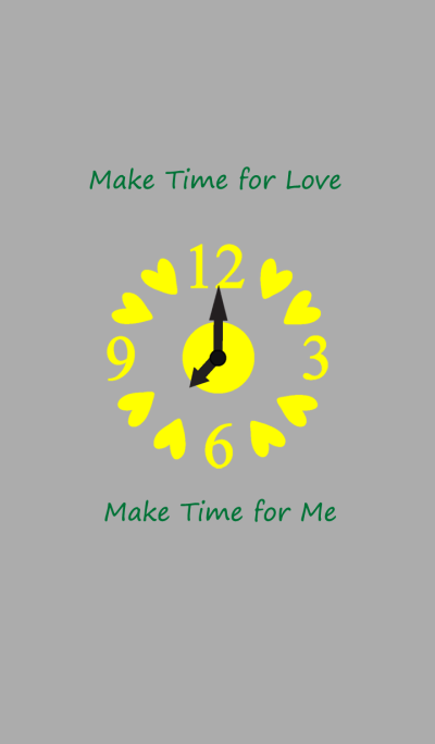 Make time for love_Yellow
