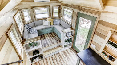 Una mini casa con ruedas de 6 metros cuadrados