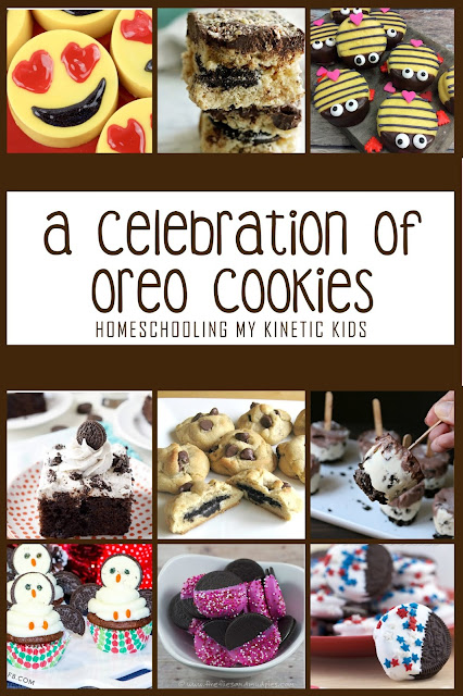 A Celebration of Oreo Cookies // Homeschooling My Kinetic Kids // recipes and learning with America's Favorite Cookie