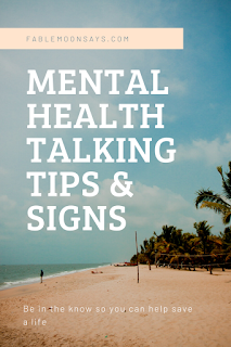 Mental health talking tips and signs