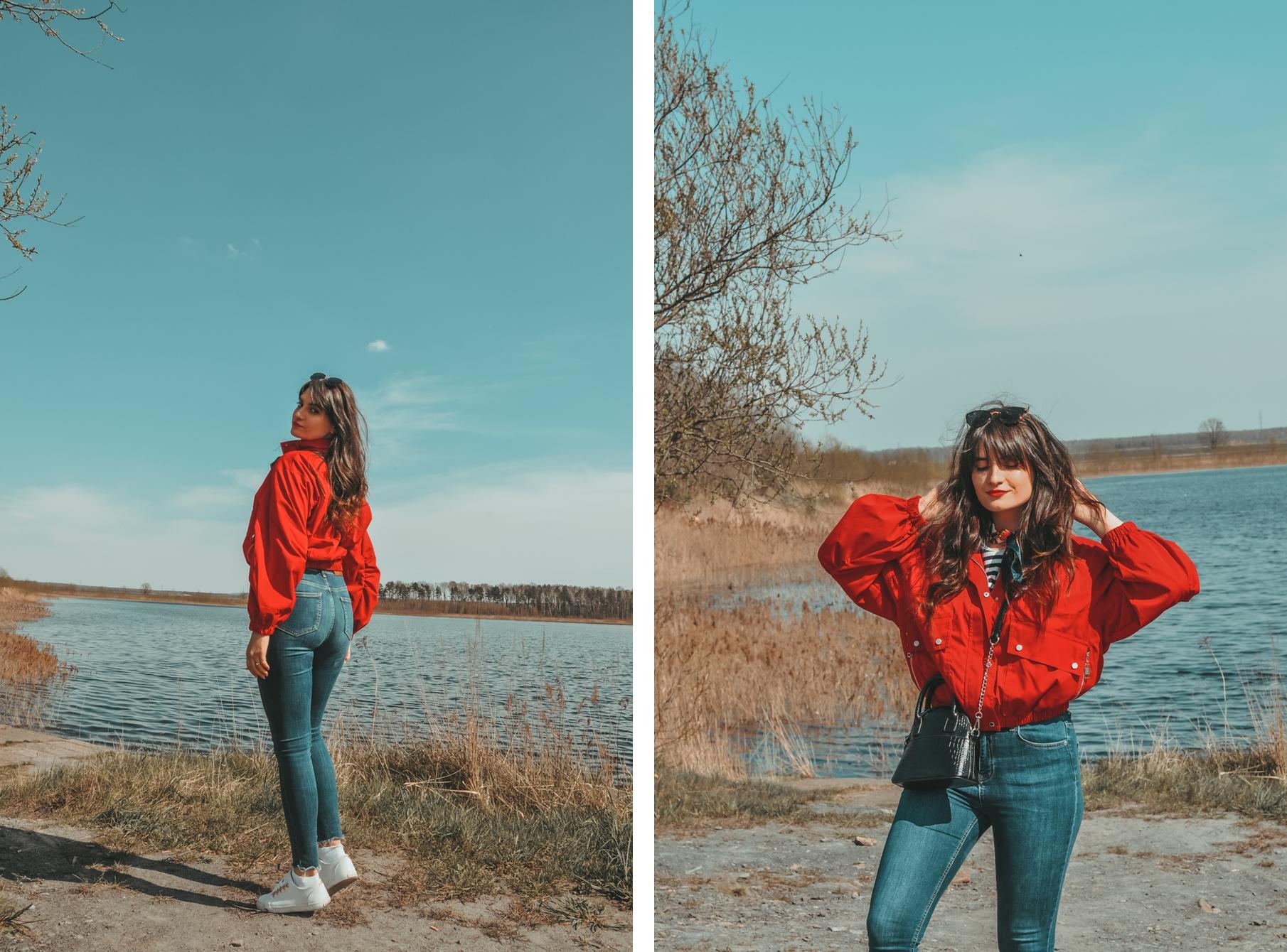 czerwona kurtka - z czym nosić?