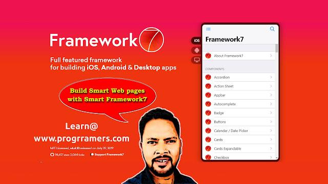 Framework7 Tutorial - Introduction -progrramers.com