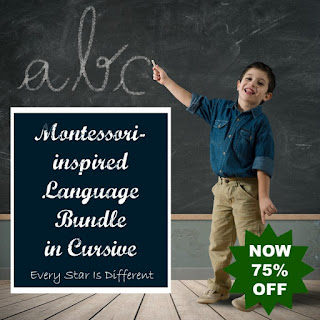 Montessori-inspired Beginning Language Bundle in Cursive