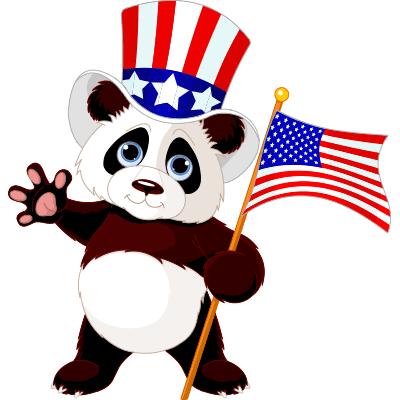 Patriotic Panda