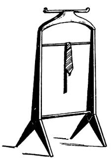 старинная напольная вешалка