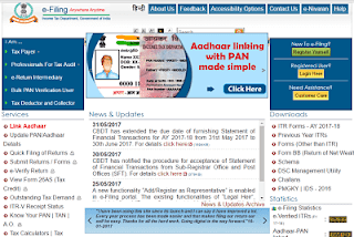 link Aadhaar card to pan card online