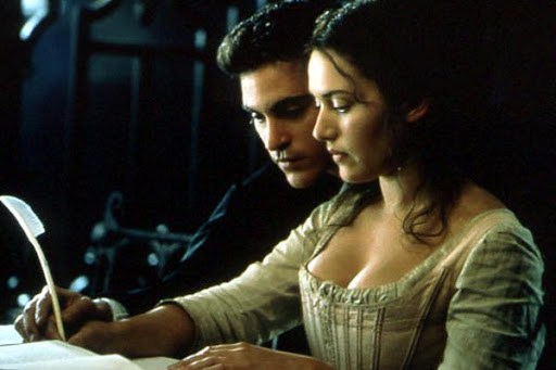 Quills writing sequence, Kate Winslet, joaquin phoenix