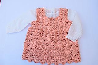 1-Crochet Imagen Vestido a crochet en forma de pichi o peto muy fácil