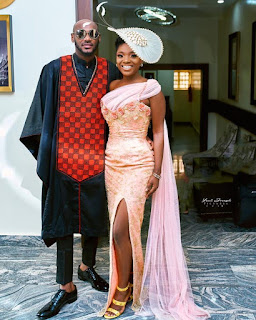 Image result for 2face and beautiful wife, Annie step out in style for brother's wedding!
