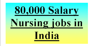M.Sc Nursing jobs-80,000 Salary