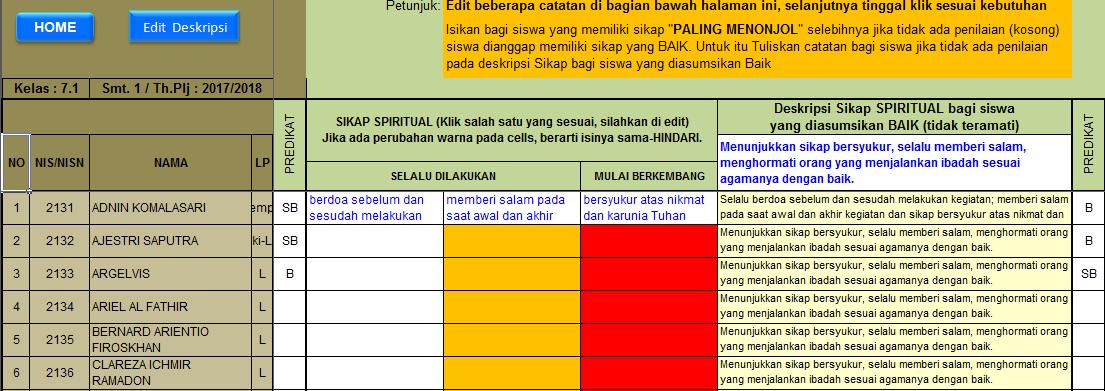 Aplikasi Penilaian Kurikulum 2013 Revisi 2017 2018 Smp Dilengkapi