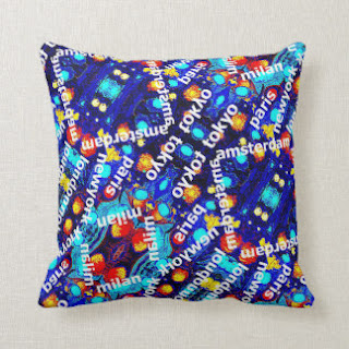 Travel throw pillow by Artmiabo