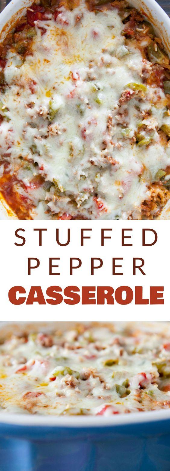 Stuffed Pepper Casserole