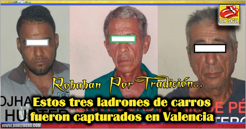 Estos tres ladrones de carros fueron capturados en Valencia