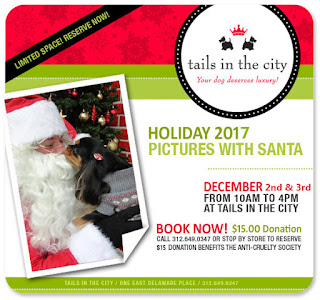 Tails in the City Pictures With Santa