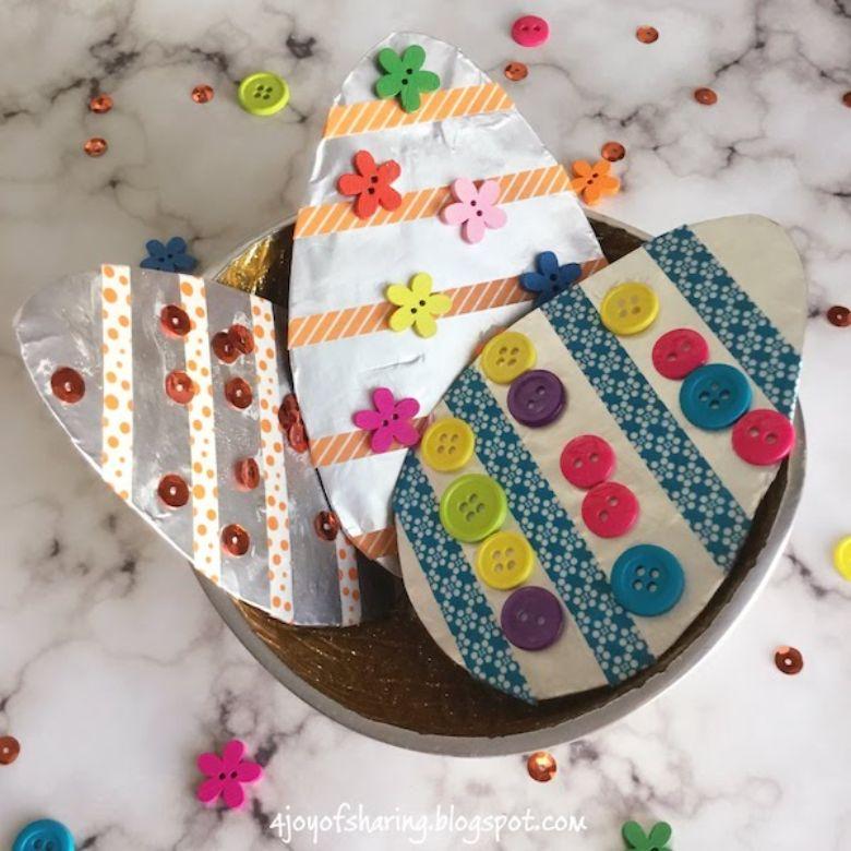 Easter crafts for toddlers - foil egg craft