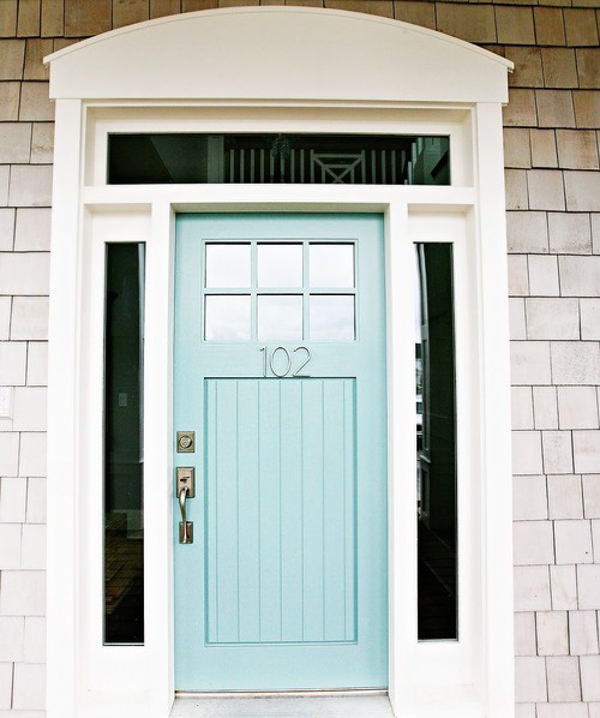front door painted with benjamin moore wythe blue