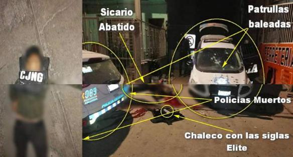 Así quedaron los Elite del CJNG abatidos y los Policías de la FSPE muertos tras enfrentamiento en Irapuato; Guanajuato además del descuartizado en Celaya