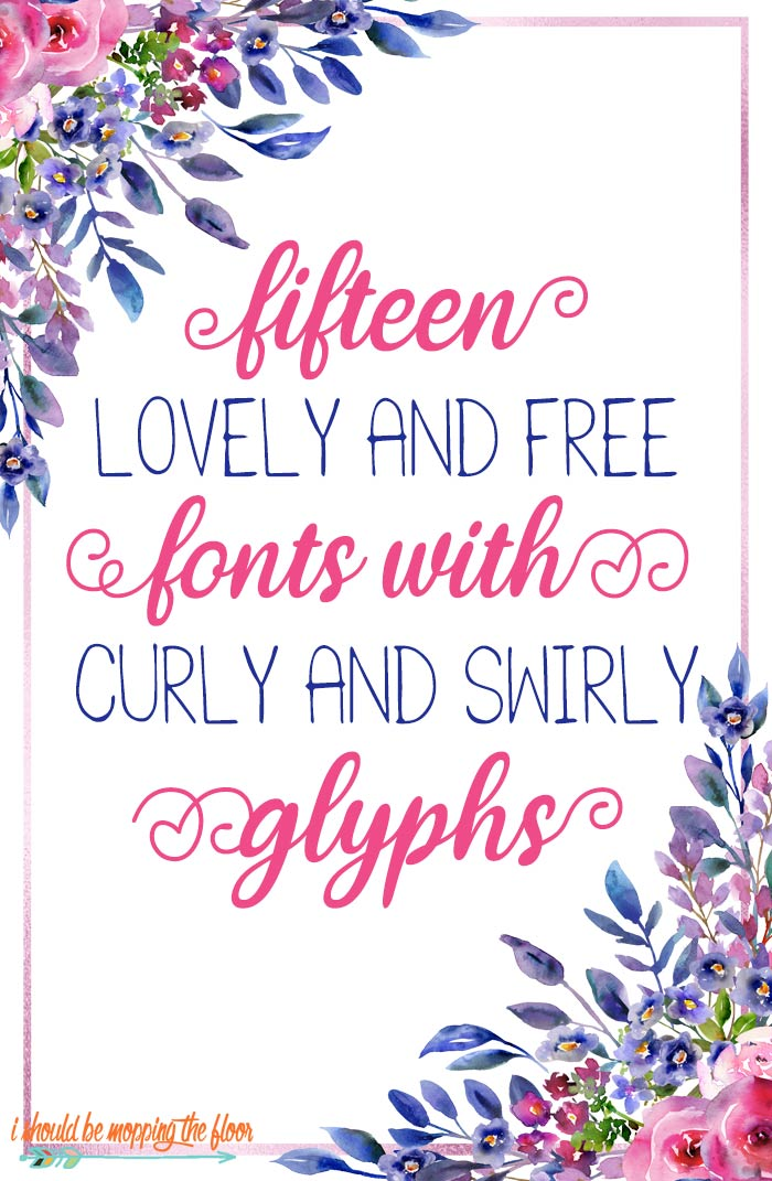 Free Fonts with Glyphs