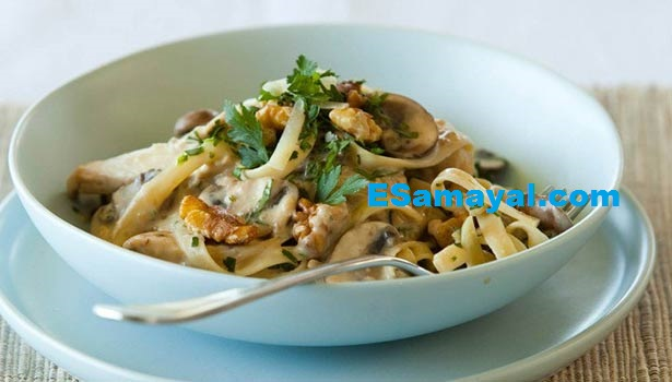 காளான் பாஸ்தா செய்வது | Mushroom Pasta Recipe !