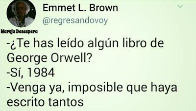 Meme de humor sobre Orwell
