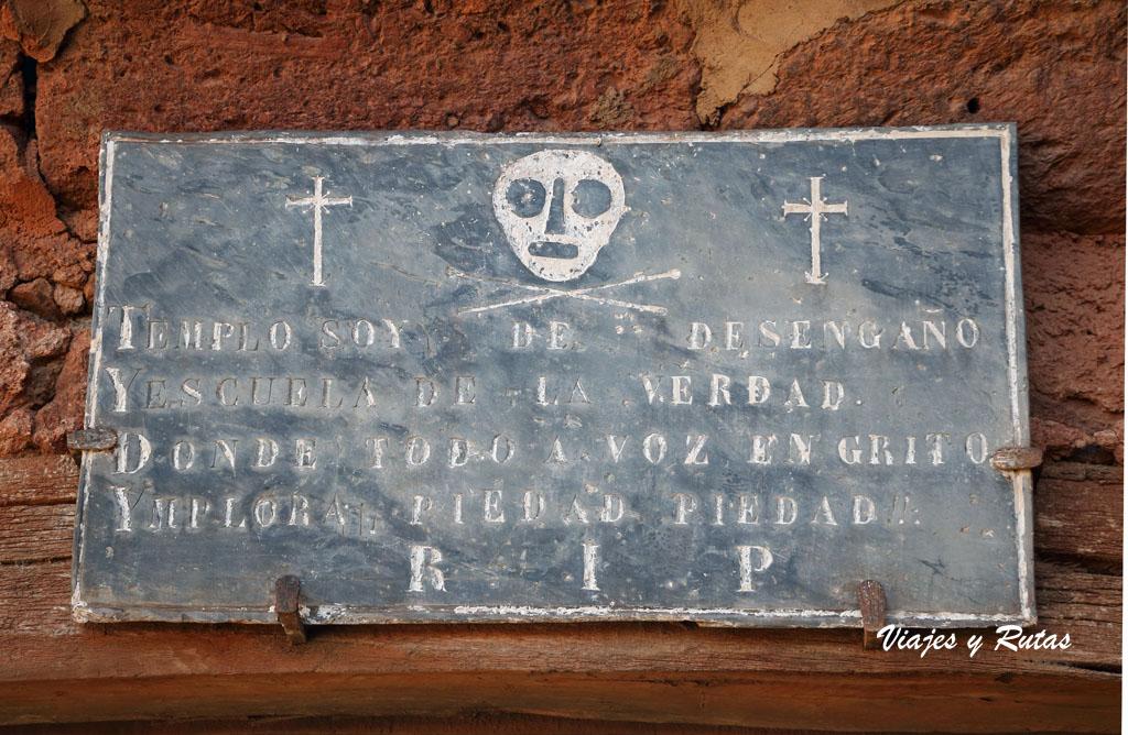 Placa del Cementerio de Madriguera