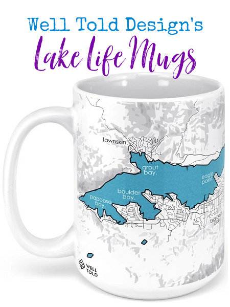 Well Told has a new line of lakes coffee and tea mugs, expanding your options of moments you can hold in your hand.