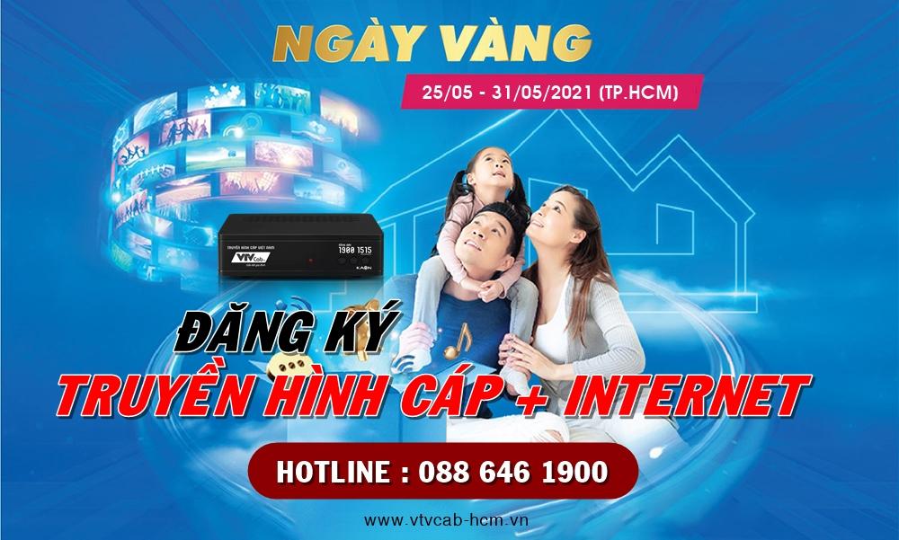 Khuyến mãi 7 ngày vàng cùng truyền hình cáp Việt Nam tại TPHCM