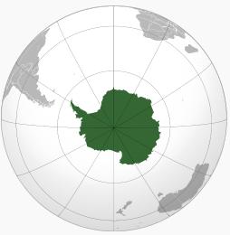 Gambar Peta bola bumi antartica