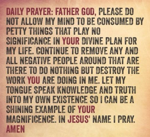 PRAYER FOR TODAY