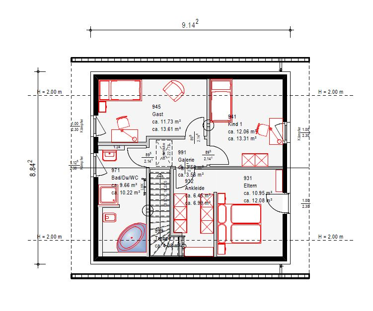 Hausbau mit okal baublog hessen rtk hausplanung for Hausplanung grundriss