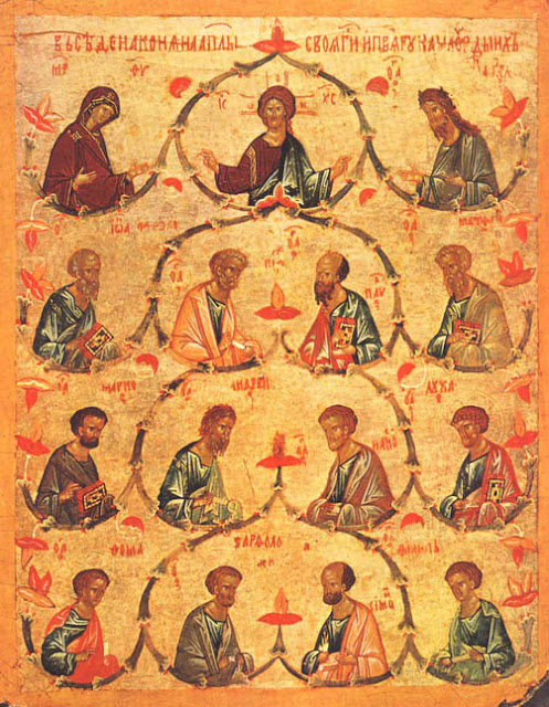 Icon of the Synaxis of the Glorious and All-Praiseworthy Twelve Apostles