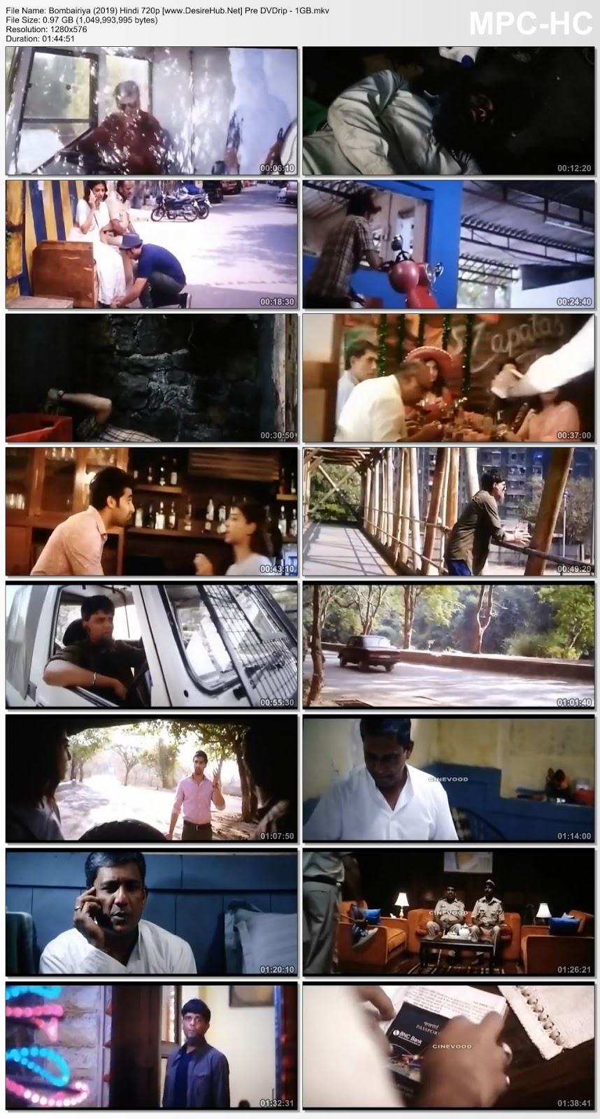 Bombairiya (2019) Hindi 720p Pre-DVDrip – 1GB Desirehub