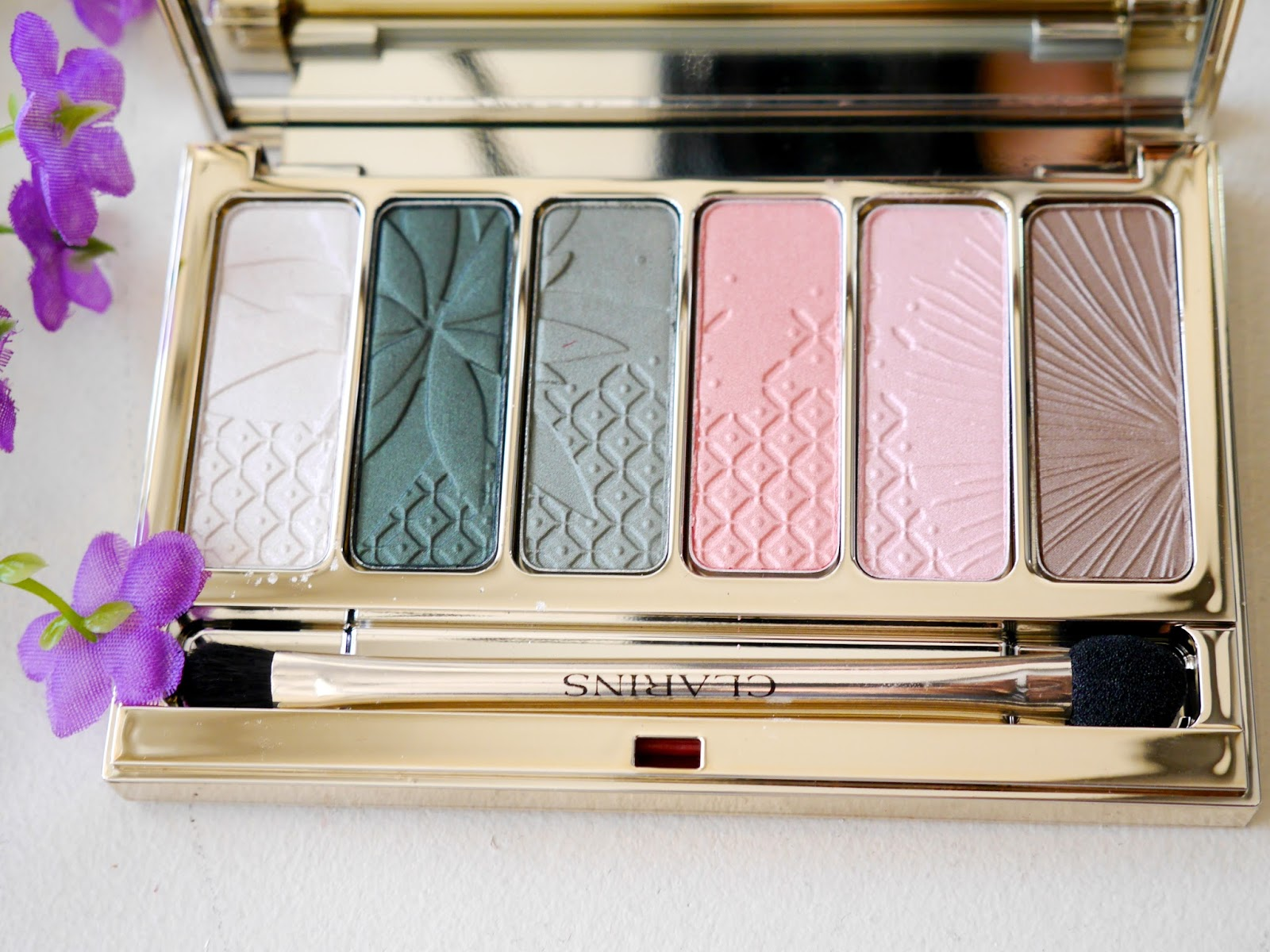 clarins spring 2015 garden escape eye palette review swatch
