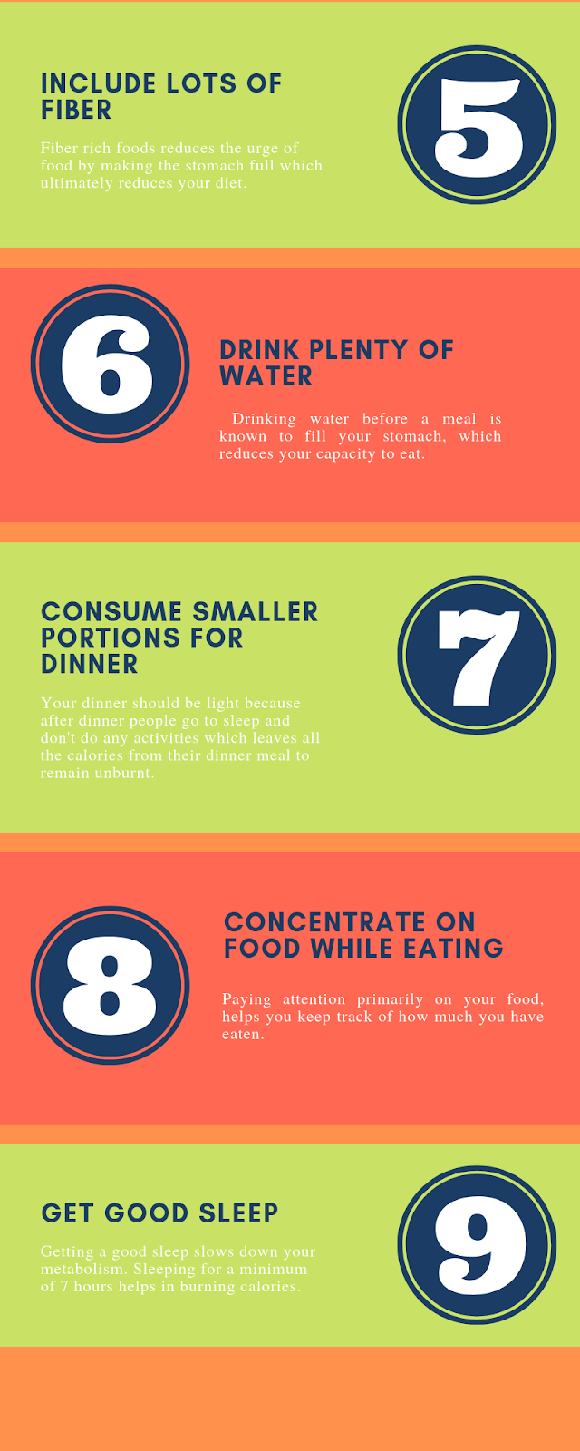 How to lose weight fast without exercise? - Infographic 5-9